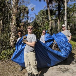 Volunteers Helping to clear the path at the Gore Nature Education Center   Cypress Cove Landkeepers