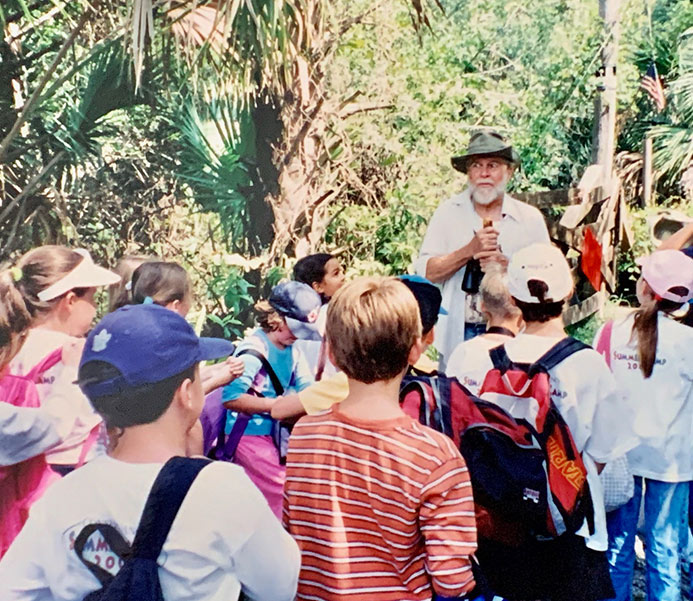 Dr. Gore on an educational tour with local children | Cypress Cove Landkeepers