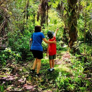 Mother and Child enjoying the nature trails : Gore Nature Education Center Gallery | Cypress Cove Landkeepers