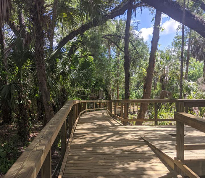 Wooden Walkways at the Gore Nature Education Center | Cypress Cove Landkeepers